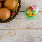 Пасхальный Сувенир на палочке «Со Светлой Пасхой!», 6 х 21 см