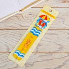 Ручка-закладка «Сочи» (пляж), 3,6 х 15,8 см