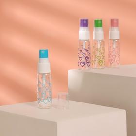 Бутылочка для хранения «Сердечки», с распылителем, 20 мл, цвет МИКС