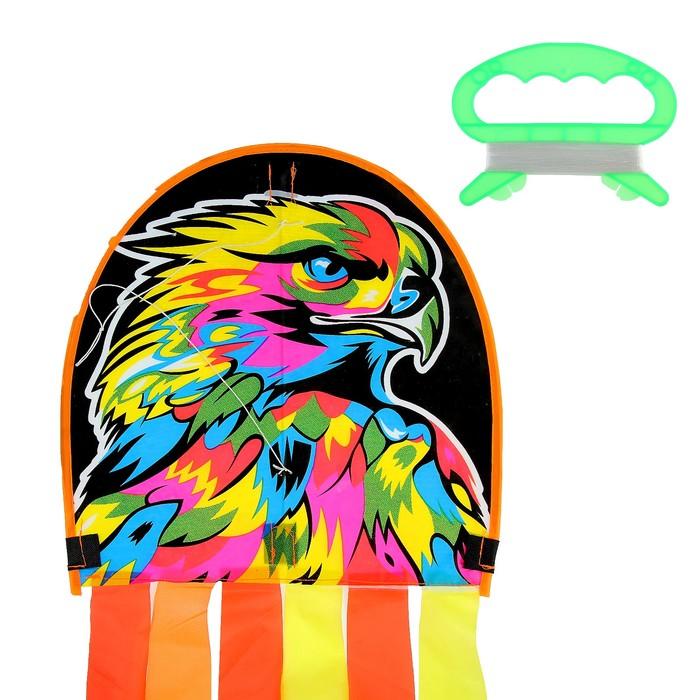 Воздушный змей «Орёл», с леской, цвета МИКС