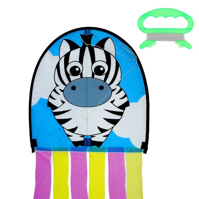 Воздушный змей «Зебра», с леской, цвета МИКС