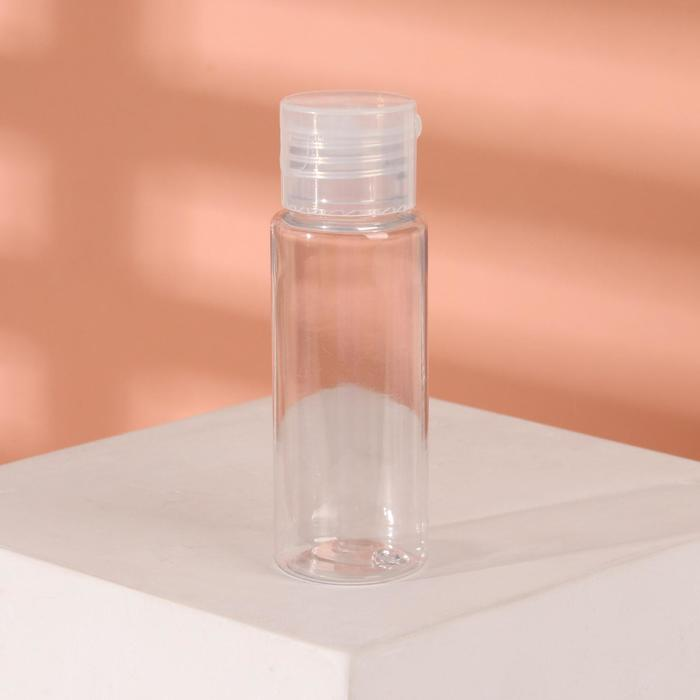 Бутылочка для хранения, с дозатором, 50 мл, цвет прозрачный