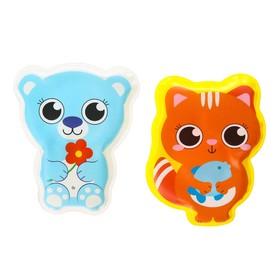 Набор игрушек для купания «Мишка и кошечка»