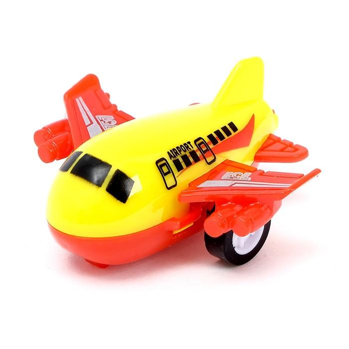 Самолет инерционный «Лайнер», цвета МИКС