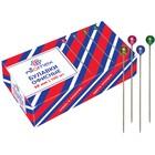 Булавки с цветной головкой, 3,8 мм, 100 шт, Attomex, картонная коробка