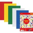 Цветная пористая резина А4, 5 листов, 5 цветов, (пенка в листах) для творчества, deVENTE, самоклеящаяся, толщиной 2 мм, МИКС