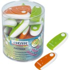 Ластик deVENTE Spin, каучук 38х38х12 мм, цветной пластиковый держатель, пластиковая туба, белый