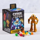 """Candy game box """"Super hero"""", candy 20 g, toy"""