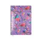 Ежедневник недатированный А5, 160 листов, deVENTE Greta, сиреневый, с цветами, искусственная кожа