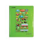 Дневник для 1-11 классов Green&Puffy sticker, твёрдая обложка, кожзам, поролон