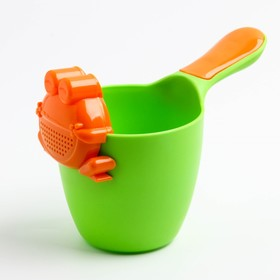 Ковш детский с лейкой-насадкой «Лягушонок», 0,65 л, цвет МИКС - фото 4635474