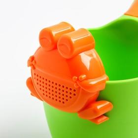 Ковш детский с лейкой-насадкой «Лягушонок», 0,65 л, цвет МИКС - фото 4635475