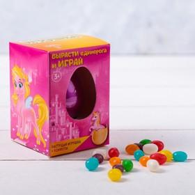Подарочный набор «Единорог»: растущая игрушка, конфеты 20 г