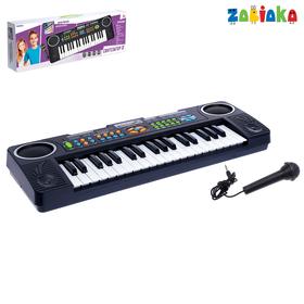 Синтезатор «Супер музыкант-2»: FM-радио, 37 клавиш, микрофоном и блоком питания