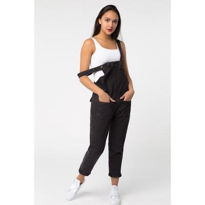 Комбинезон джинсовый, цвет чёрный, размер 44