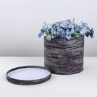Коробка шляпная для цветов «Текстура», 20 × 17 см