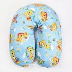 Подушка для беременных 23х185 чехол на молнии, бязь, хл100%, файбер, цвет голубой принт МИКС   41253