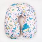 Подушка для беременных 23х185 чехол на молнии, бязь, хл100%, файбер, цвет розовый принт МИКС   41253