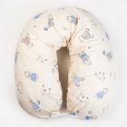 Подушка для беременных 23х185 чехол на молнии, бязь, хл100%, файбер, цвет бежевый принт МИКС   41253