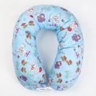 Подушка для беременных 25х170 чехол на молнии, бязь, хл100%, файбер, цвет голубой принт МИКС   41253