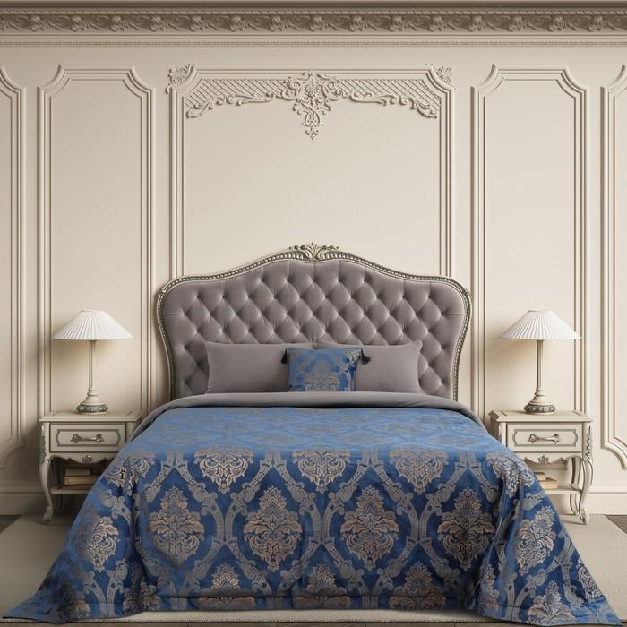 """Покрывало Этель """"Версаль"""" 240*210±3 см, цв.синий, 100% п/э - фото 623578"""