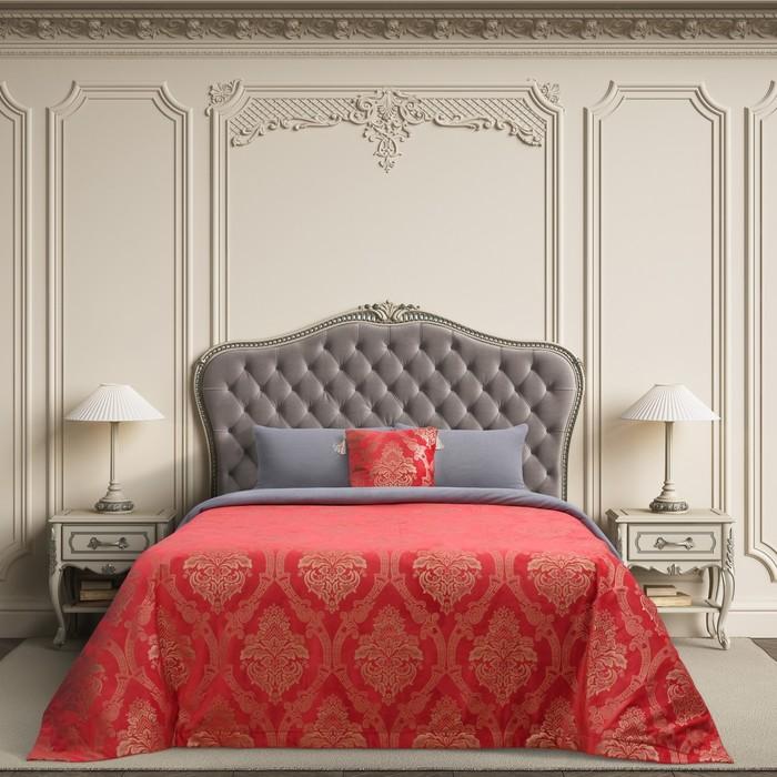 """Покрывало Этель """"Версаль"""" 240х210 ± 3 см, цвет красный, 100% п/э - фото 623588"""