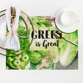 """Салфетка на стол """"GREEN is Great"""" 29*40 см"""