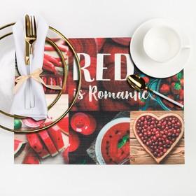 """Салфетка на стол """"RED is Romantic"""" 29*40 см"""