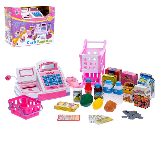 Игровой набор с кассой и аксессуарами «Мой магазинчик-1»