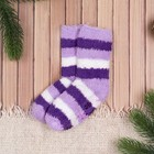 "Children's socks Collorista ""Strips"", size 16 (2-3 years) color purple"