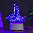 """Светильник """"Морская черепаха"""" LED RGB от сети"""