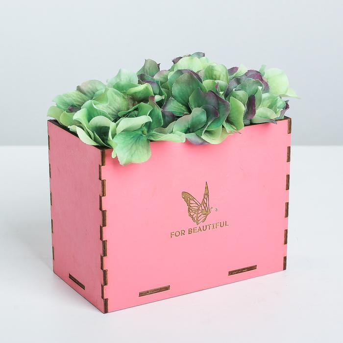 Кашпо флористическое, розовый, 15.6 × 8.6 × 12 см