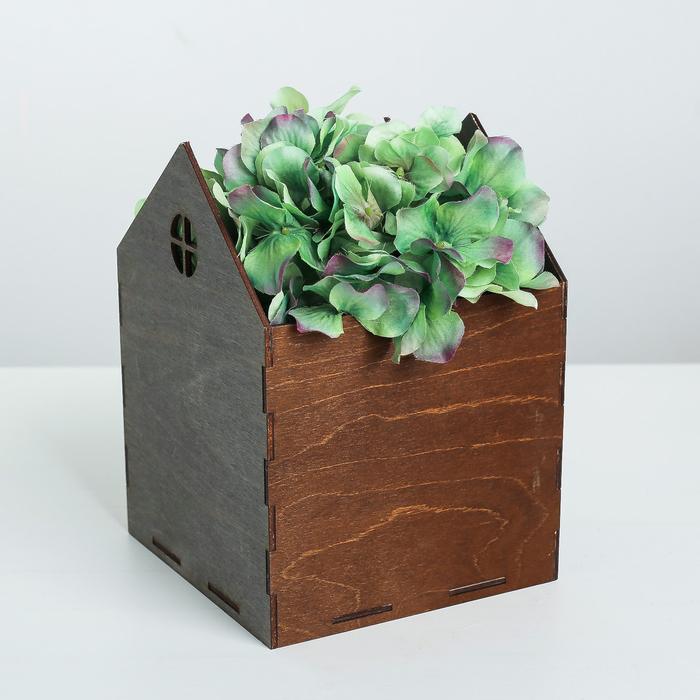 Кашпо флористическое, серо‒коричневый, 15 × 15 × 20.5 см