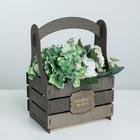 Кашпо флористическое «Исполнения желаний», серый, 15 × 21 × 31.5 см - фото 823272