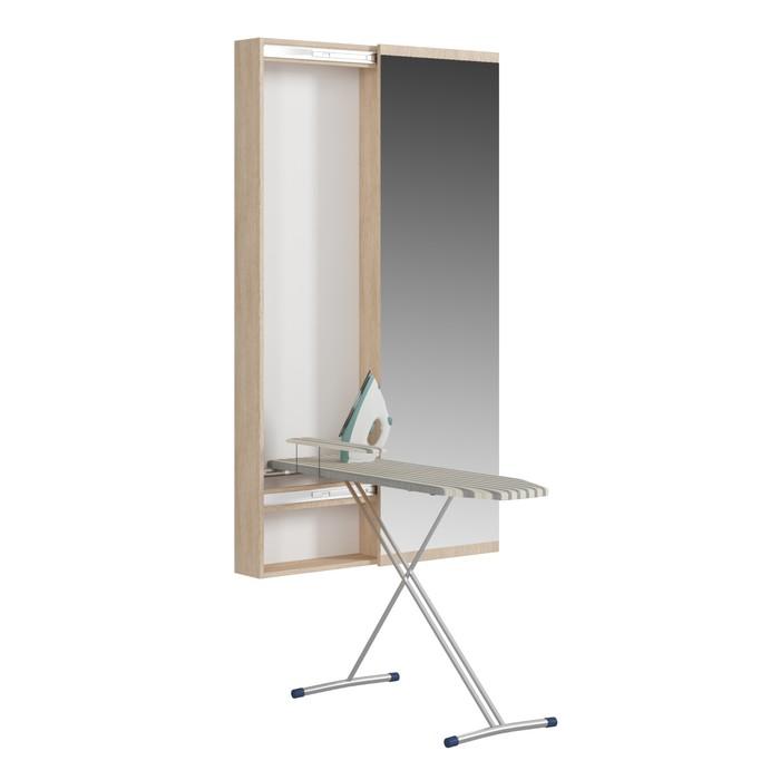 Пенал с зеркалом с гладильной доской Светлана, 500х150х1740, Дуб сонома