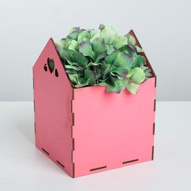 Кашпо флористическое, розовый, 15 × 15 × 20.5 см