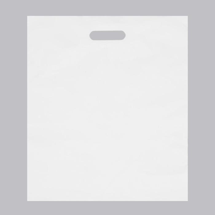 Пакет с вырубной усиленной ручкой, белый, 40 х 50 см, 45 мкм - фото 308983544