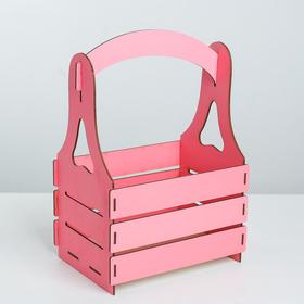 Кашпо флористическое, розовый, 15 × 21 × 31.5 см - фото 1100391