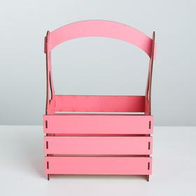 Кашпо флористическое, розовый, 15 × 21 × 31.5 см - фото 1100392