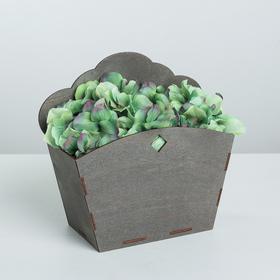 Кашпо флористическое, серый, 21.8 × 9 × 20.5 см