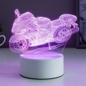 Racing motorcycle lamp, LED, RGB, from the network, 10 × 14.4 × 16 cm.