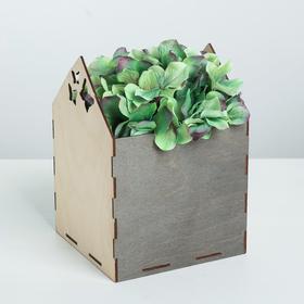 Кашпо флористическое, натуральный, 15 × 15 × 20.5 см
