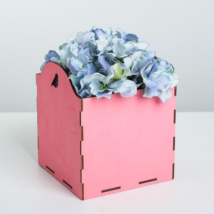 Кашпо флористическое, розовый, 15 × 15 × 16.8 см