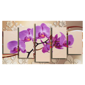 Картина-холст на подрамнике 'Орхидея' 70х135 см Ош