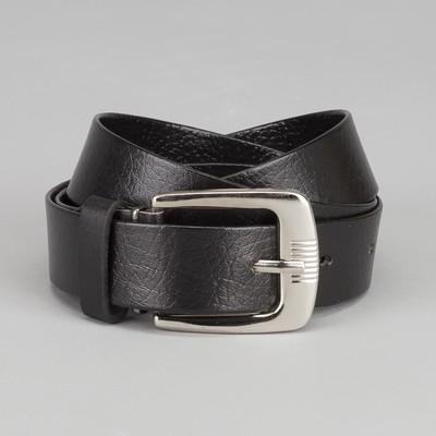 Ремень мужской, ширина - 3 см, винт, пряжка тёмный металл, цвет чёрный