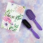 Подарочный набор «Индиго», 2 предмета: вентилируемая расчёска, овальная расчёска, цвет фиолетовый