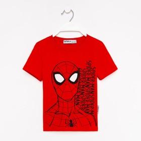 """Футболка детская MARVEL """"Человек паук"""", рост 110-116 (32), красный"""