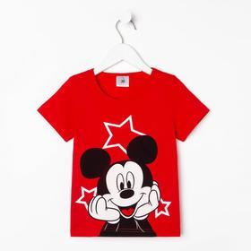 """Футболка Disney """"Микки Маус"""", рост 110-116 (32), красный"""
