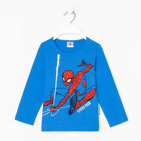 """Футболка с длинным рукавом MARVEL """"Человек-паук"""", рост 110-116 (32), синий"""