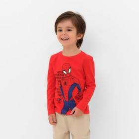 """Футболка с длинным рукавом MARVEL """"Spider man hero"""", рост 110-116 (32), красный"""